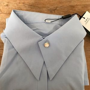 Women's xxs ,  Light blue, dress shirt,